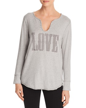 AQUA - Love Embellished Henley - 100% Exclusive