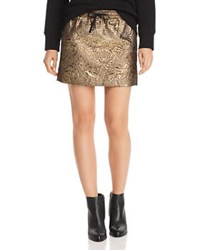AQUA - Metallic Mini Skirt - 100% Exclusive