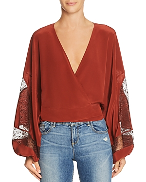 Elizabeth and James Talia Silk Wrap Top