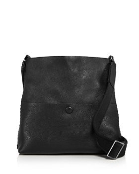 Callista - Iconic Noir Slim Leather Messenger Bag