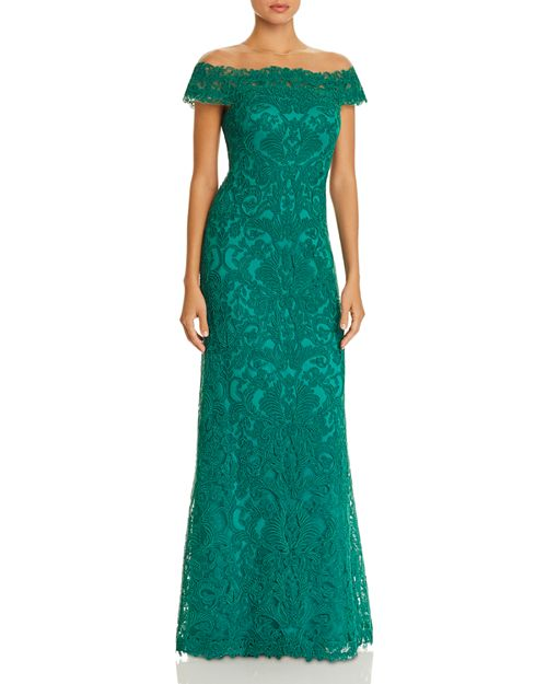 Tadashi Shoji Illusion Lace Gown | Bloomingdale\'s