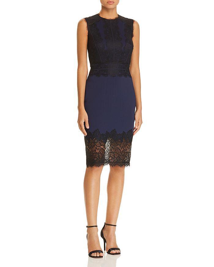 Tadashi Shoji - Lace-Appliquéd Neoprene Dress