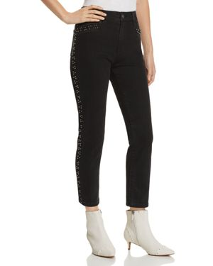 PISTOLA CHARLIE BEADED STRAIGHT-LEG JEANS IN CHARCOAL - 100% EXCLUSIVE