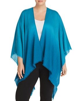 Eileen Fisher Plus - Dip-Dyed Poncho