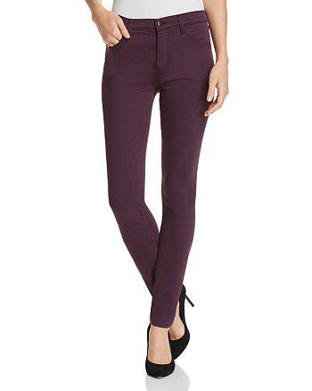 J Brand - Maria High Rise Skinny Jeans in Aubergine - 100% Exclusive