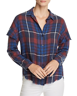 Bella Dahl Ruffled Plaid Shirt - 100% Exclusive