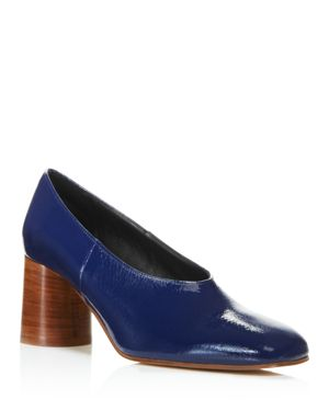 CREATURES OF COMFORT Creatures Of Comfort Women'S Dina Square-Toe Block-Heel Patent Leather Pumps in Oceano