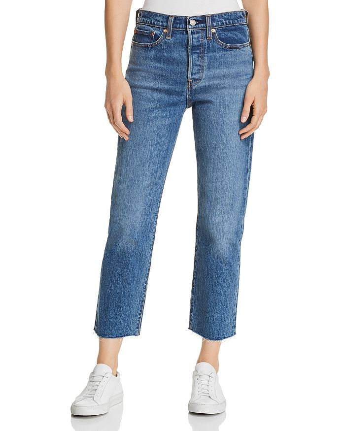 0c6b6add Levi's Wedgie Crop Straight Jeans in Love Triangle | Bloomingdale's