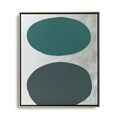 """Mitchell Gold Bob Williams Green Floating Spheres with Silver Art, 26"""" x 31"""" - Bloomingdale's_0"""