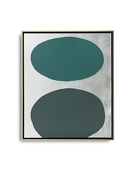 "Mitchell Gold Bob Williams - Green Floating Spheres with Silver Art, 26"" x 31"""