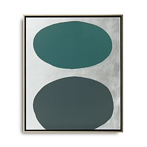 Mitchell Gold Bob Williams Green Floating Spheres with Silver Art, 26 x 31