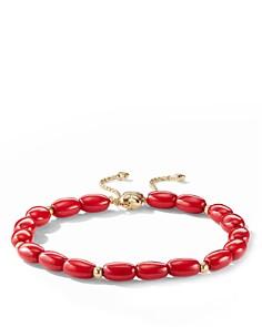 David Yurman Bijoux Spiritual Beads Bracelet with Dyed Sea Bamboo and 18K Gold - Bloomingdale's_0