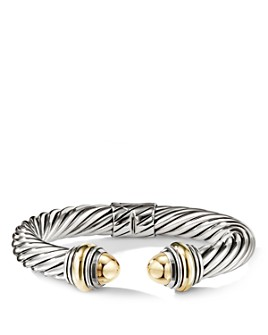 David Yurman - Cable Classics Bracelet with Bonded Yellow Gold & 14K Gold, 10mm