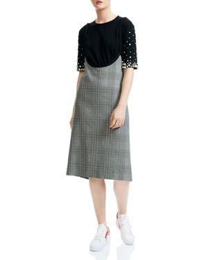 RACARI PLAID APRON DRESS