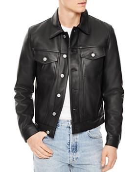 Sandro - Trucker Leather Jacket