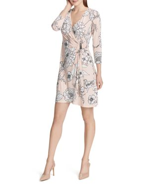 Calvin Klein Floral Faux-Wrap Dress 3063270
