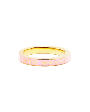 Jet Set Candy Message Ring