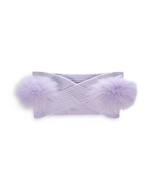 Charlotte Simone - Snow Angel Fox Fur-Trim Cashmere Headband