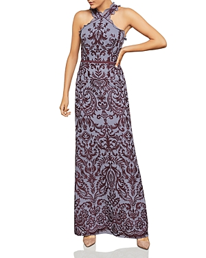 Bcbgmaxazria Embroidered Chiffon Gown