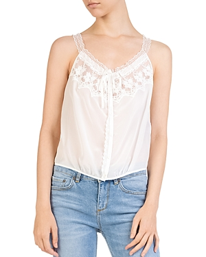 The Kooples Lace-Inset Camisole Top