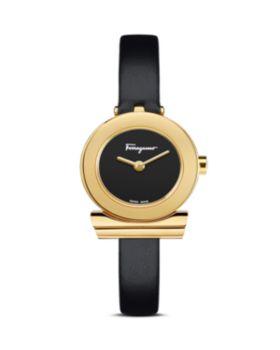 Salvatore Ferragamo Gancino Black Strap Watch