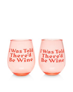 ban.do - I Was Told Ther'd Be Wine Glass, Set of 2