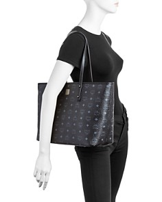 MCM - Anya Logo Print Medium Shopper Tote