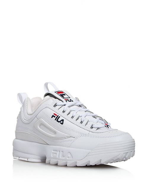 093f79964711 FILA - Women s Disruptor II Premium Lace Up Leather Dad Sneakers