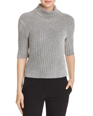 Elie Tahari Fitz Metallic Chenille Sweater