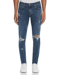 J Brand - Mick Destroyed Skinny Fit Jeans in Physalis