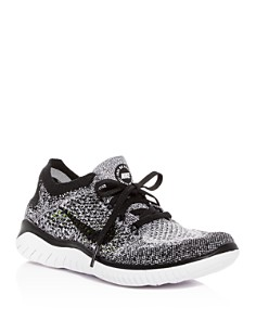 Nike - Women's Free RN Flyknit 2018 Lace Up Sneakers