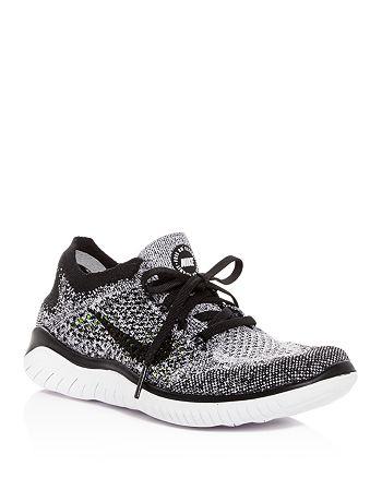 Nike - Women's Free RN Flyknit 2018 Lace Up Sneakers