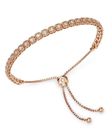 Bloomingdale's - Diamond Milgrain Bolo Bracelet in 14K Rose Gold, 1.0 ct. t.w. - 100% Exclusive