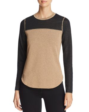 THREE DOTS REVERSIBLE COLOR-BLOCK SWEATER