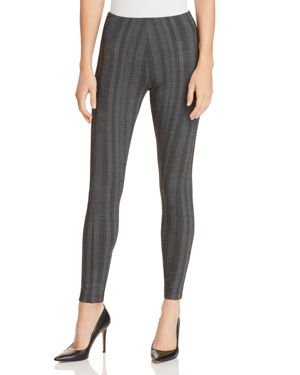 LYSSÉ Ella High Waist Printed Leggings in Stripe Herringbone