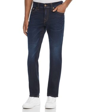 TRUE RELIGION GENO STRAIGHT SLIM FIT JEANS IN BLUE NIGHT