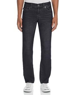 True Religion - Geno Straight Slim Corduroy Pants in Black