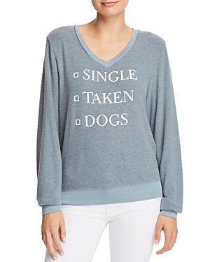 Wildfox Dogs Graphic Sweatshirt