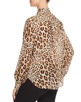 FRAME - True Leopard Print Silk Blouse