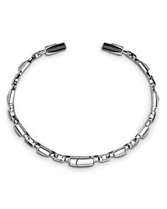 Michael Kors - Michael Kors Mercer Link Semi-Precious Sterling Silver Center Back Hinged Cuff