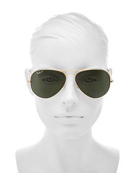 Ray-Ban - Unisex Polarized Classic Aviator Sunglasses, 58mm