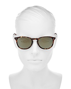 Oliver Peoples - Women's Finley Polarized Mirrored Square Sunglasses, 50mm