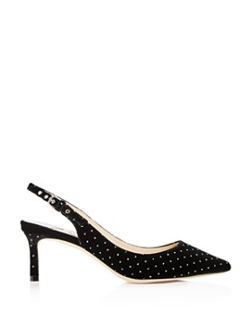 Jimmy Choo - Women's Erin 60 Embellished Velvet Slingback Pumps