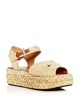 Clergerie - Women's Aude Raffia Platform Sandals