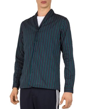 THE KOOPLES TWINKLE SHAWL-COLLAR SLIM FIT BUTTON-DOWN SHIRT
