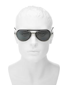 Prada - Men's Linea Rossa Spectrum Brow Bar Aviator Sunglasses, 57mm
