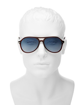 Persol - Men's Brow Bar Aviator Sunglasses, 59mm