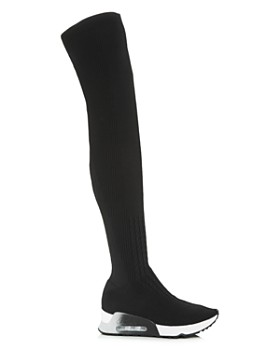 Ash - Women's Lola Knit Over-the-Knee Wedge Boots