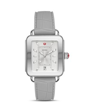Deco Sport Watch Head & Silicone Strap Watch, 34Mm X 36Mm in Grey/ White/ Silver