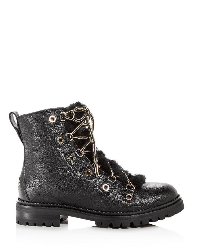 cb012f1d6ea Jimmy Choo Women s Hillary Leather   Shearling Hiking Boots ...